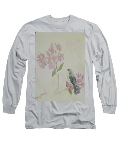 Bougainvillea And Mockingbird Long Sleeve T-Shirt