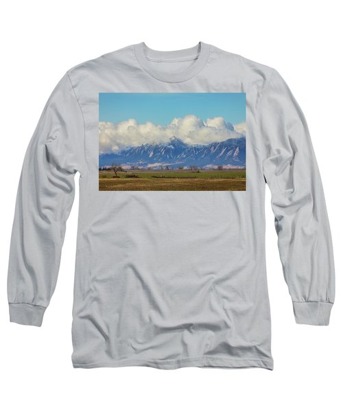 Long Sleeve T-Shirt featuring the photograph Boulder Colorado Front Range Cloud Pile On by James BO Insogna