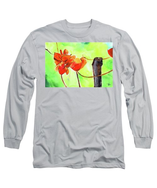 Long Sleeve T-Shirt featuring the painting Bound Yet Free by Anil Nene