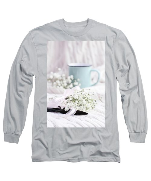 Bouquet Of Baby's Breath Long Sleeve T-Shirt by Stephanie Frey