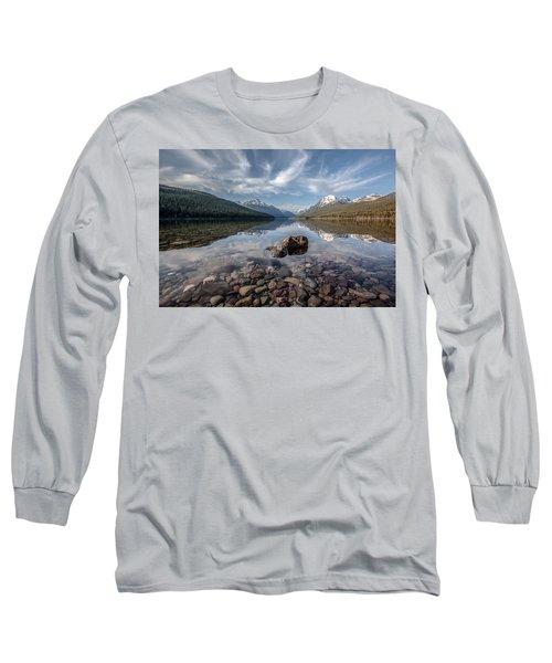 Bowman Lake Rocks Long Sleeve T-Shirt
