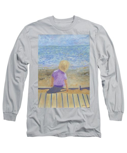Boy Lost In Thought Long Sleeve T-Shirt