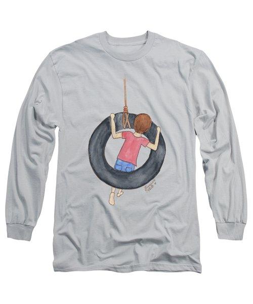 Boy On Swing 1 Long Sleeve T-Shirt