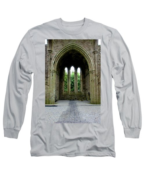 Long Sleeve T-Shirt featuring the photograph Boyle Abbey In Ireland 2 by Michelle Joseph-Long