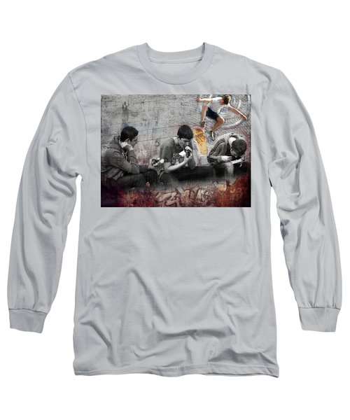 Boys Will Be Long Sleeve T-Shirt by Judi Saunders