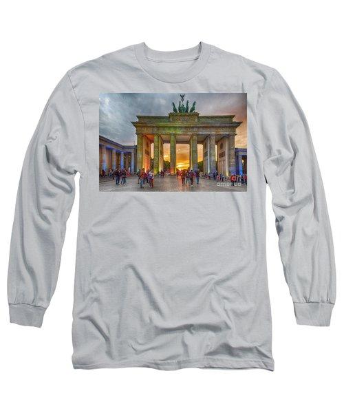 Brandenburg Gate Long Sleeve T-Shirt by Pravine Chester