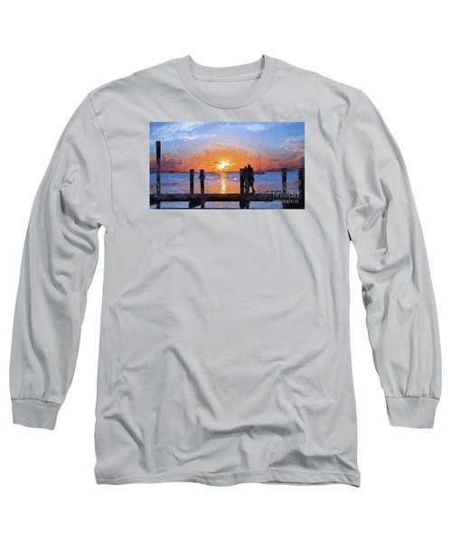 Long Sleeve T-Shirt featuring the painting Break On Through  by Judy Kay