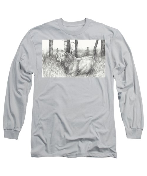 Long Sleeve T-Shirt featuring the drawing Breaker Study by Meagan  Visser