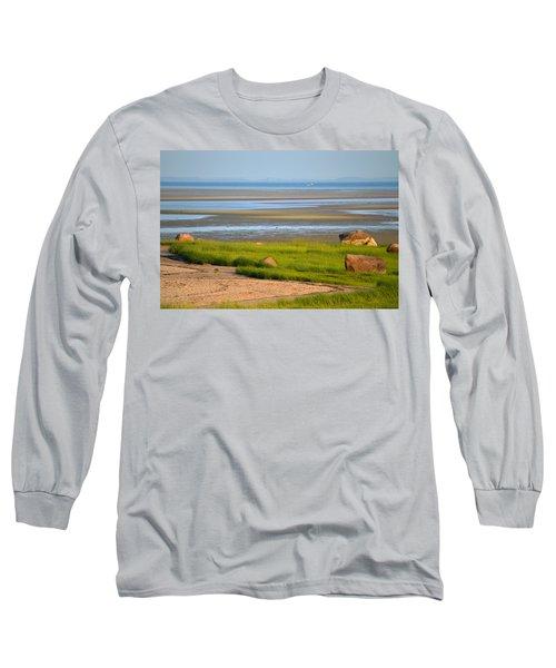 Breakwater Beach At Low Tide Long Sleeve T-Shirt