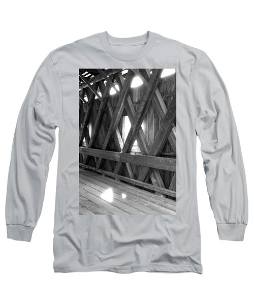 Long Sleeve T-Shirt featuring the photograph Bridge Glow by Greg Fortier