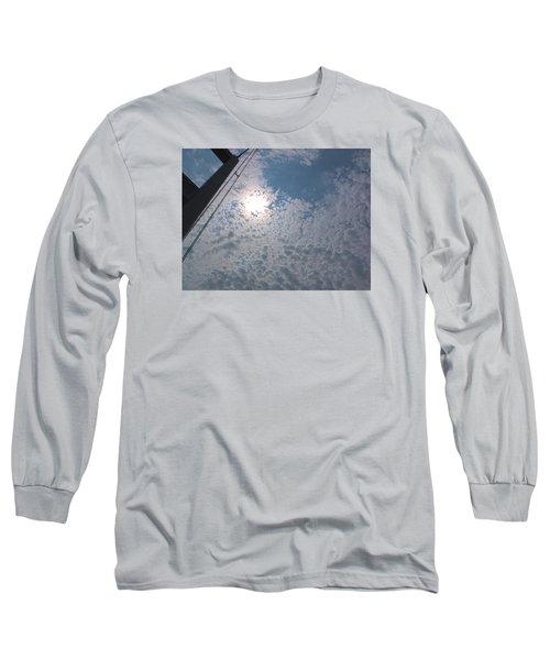 Bridge Meet Sky Long Sleeve T-Shirt by John Rossman