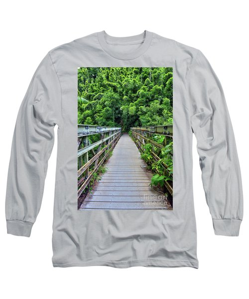 Bridge To Bamboo Forest Long Sleeve T-Shirt