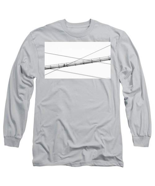 Long Sleeve T-Shirt featuring the photograph Bridge Walker by Joe Bonita