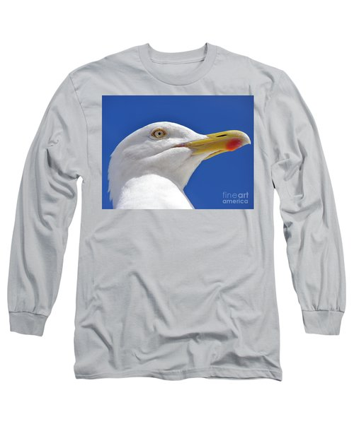 Long Sleeve T-Shirt featuring the photograph British Herring Gull by Terri Waters