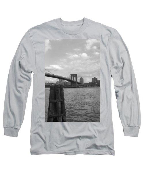 Brooklyn Bridge  Long Sleeve T-Shirt by Henri Irizarri