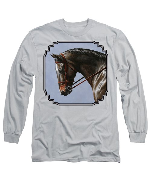 Brown Dressage Horse Phone Case Long Sleeve T-Shirt