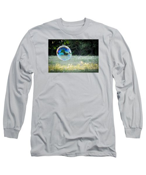 Long Sleeve T-Shirt featuring the photograph Bubble by Cheryl McClure