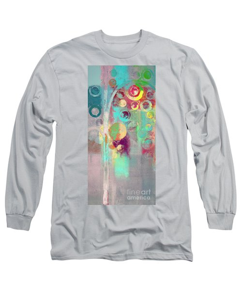 Long Sleeve T-Shirt featuring the digital art Bubble Tree - 285r by Variance Collections