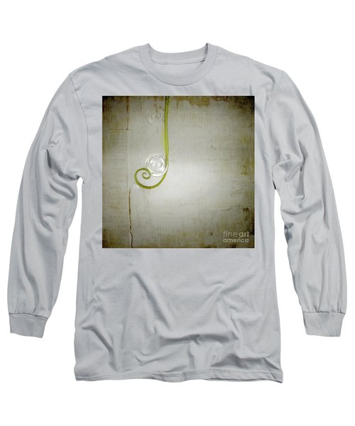 Long Sleeve T-Shirt featuring the digital art Bubbling - 02tt04a by Variance Collections