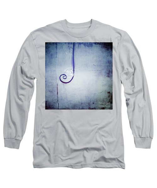 Long Sleeve T-Shirt featuring the digital art Bubbling - 033a by Variance Collections
