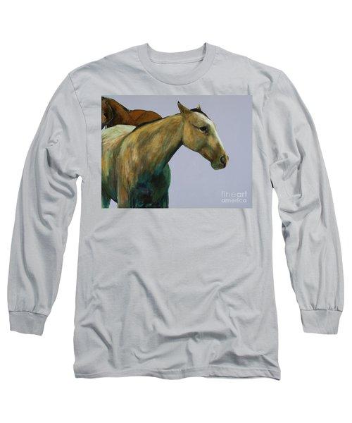 Buckskin Long Sleeve T-Shirt by Frances Marino