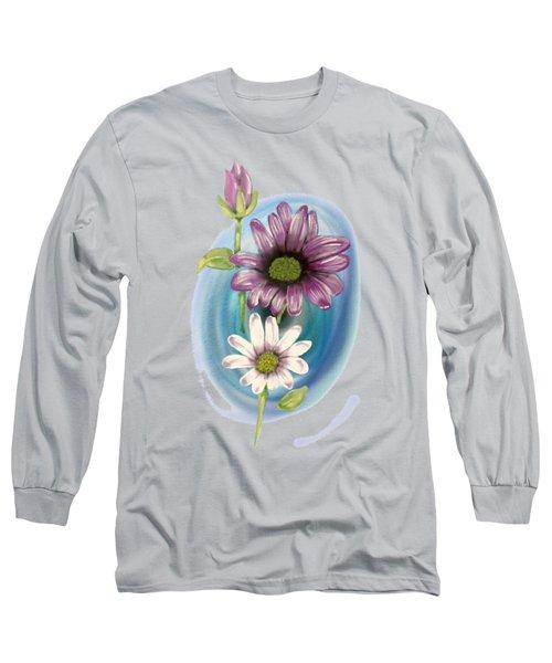 Bud And  Flowers Long Sleeve T-Shirt