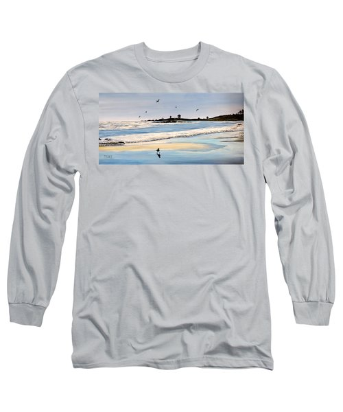 Bull Beach Long Sleeve T-Shirt by Marilyn McNish