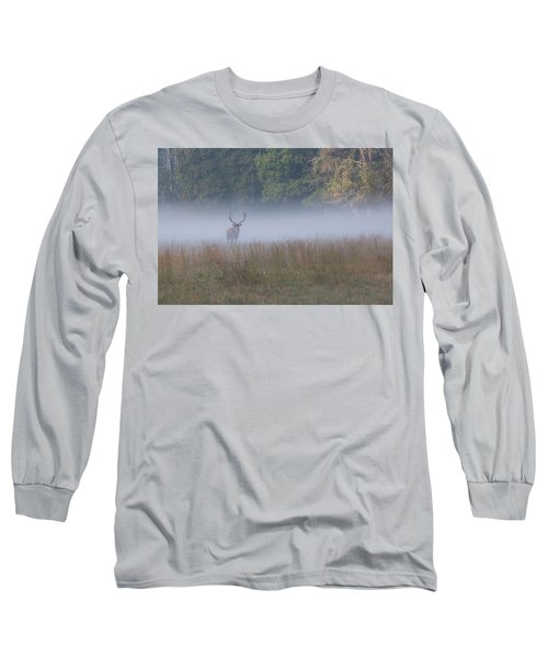 Bull Elk Disappearing In Fog - September 30 2016 Long Sleeve T-Shirt