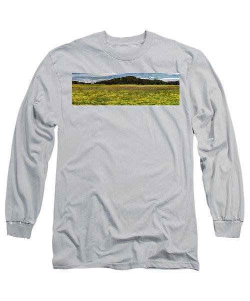 Bull Prairie Long Sleeve T-Shirt by Leland D Howard