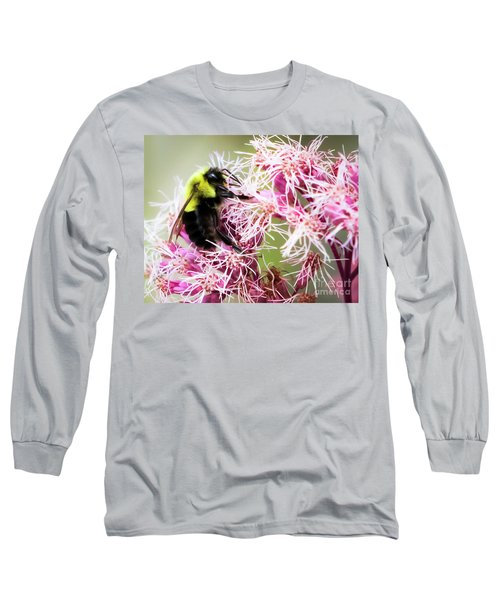 Long Sleeve T-Shirt featuring the photograph Busy As A Bumblebee by Ricky L Jones
