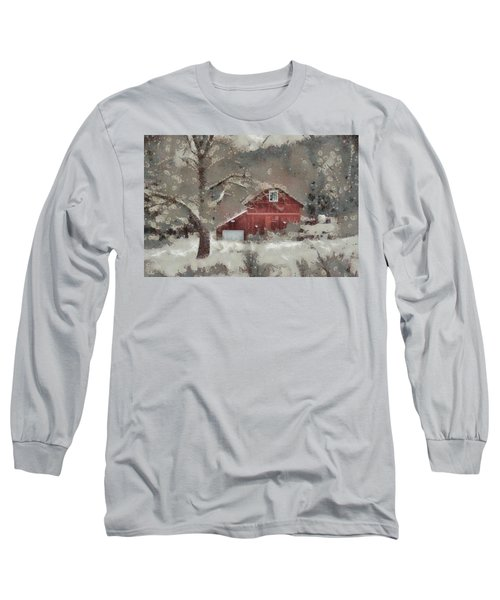 Long Sleeve T-Shirt featuring the mixed media Butter Lane by Trish Tritz