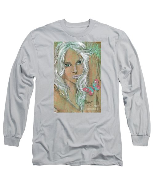 Butterfly Long Sleeve T-Shirt by P J Lewis