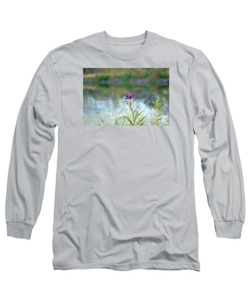 Long Sleeve T-Shirt featuring the photograph By The Pond by Lila Fisher-Wenzel