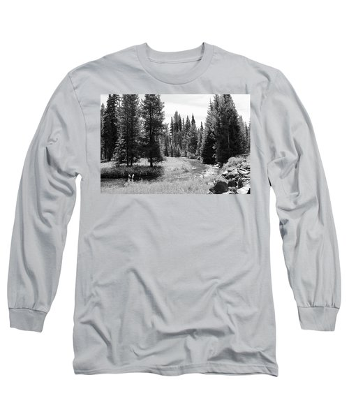 Long Sleeve T-Shirt featuring the photograph By The Stream by Christin Brodie