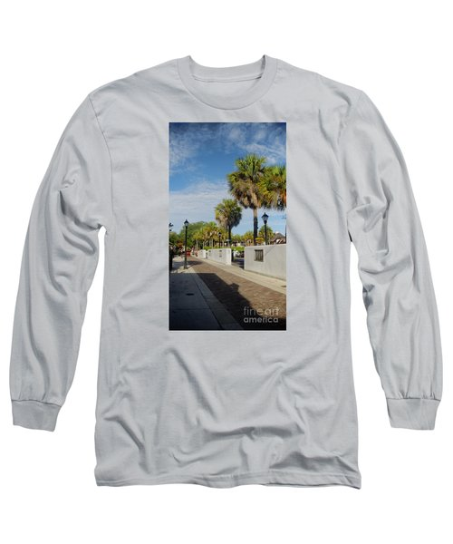 Cabbage Palms Along Hypolita Street Long Sleeve T-Shirt