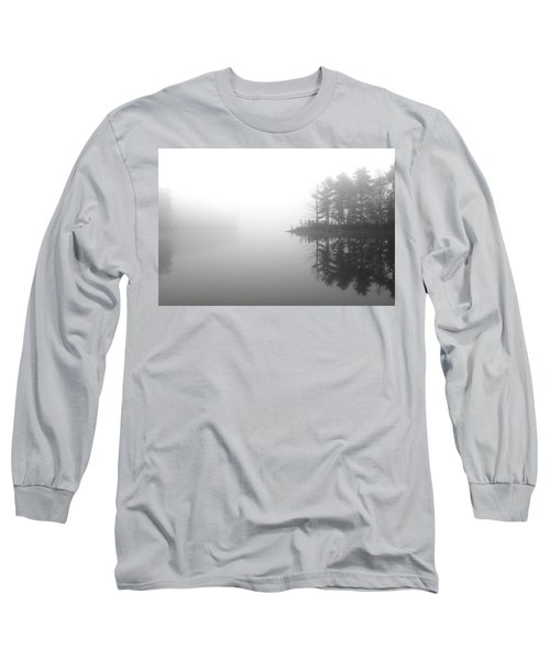 Cabin In The Foggy Woods Long Sleeve T-Shirt