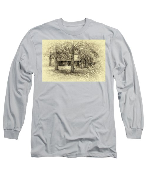 Long Sleeve T-Shirt featuring the photograph Cabin In The Woods by Louis Ferreira