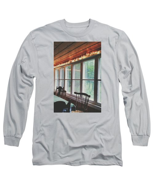 Long Sleeve T-Shirt featuring the photograph Cabin In The Woods by Nikki McInnes