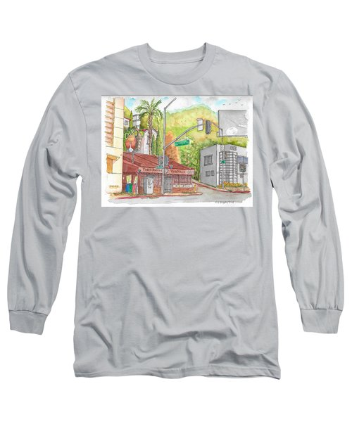 Cabo Cantina, Sunset Blvd And Sweetzer Ave., West Hollywood, California Long Sleeve T-Shirt by Carlos G Groppa