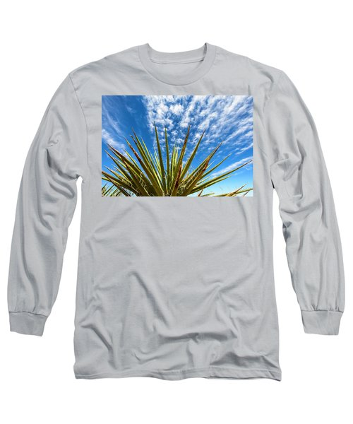 Cactus And Blue Sky Long Sleeve T-Shirt by Amyn Nasser