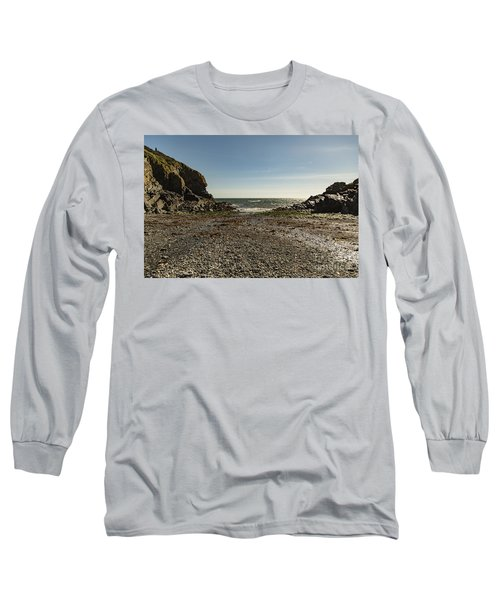 Cadgwith Cove Beach Long Sleeve T-Shirt
