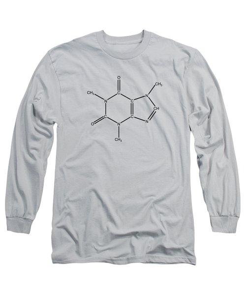 Caffeine Molecular Structure Vintage Long Sleeve T-Shirt