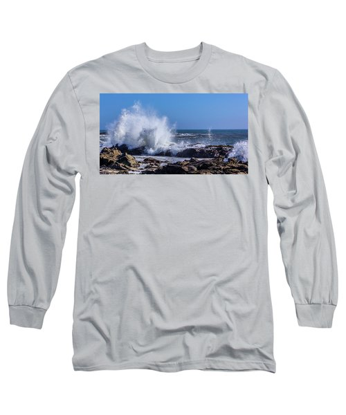 Wave Crashing On California Coast Long Sleeve T-Shirt