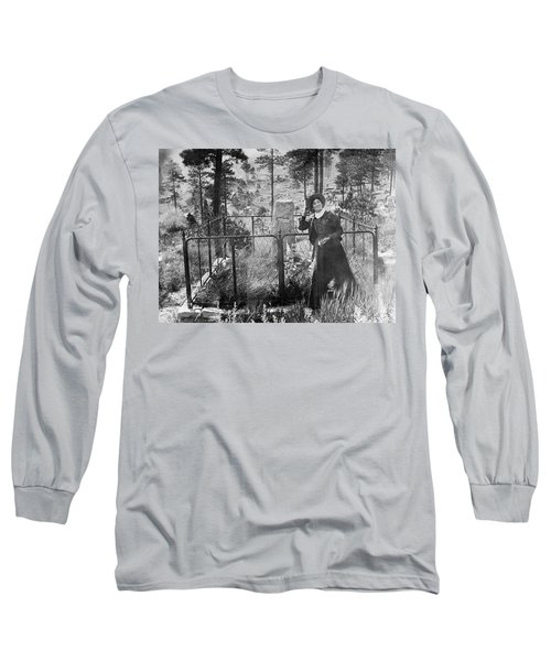 Long Sleeve T-Shirt featuring the photograph Calamity Jane At Wild Bill Hickok's Grave 1903 by Daniel Hagerman