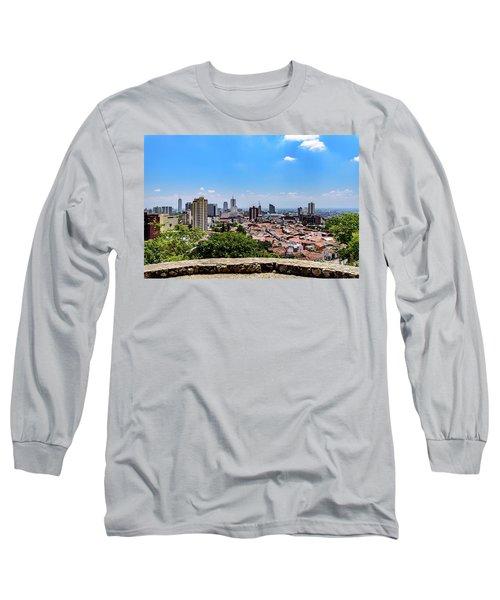 Cali Skyline Long Sleeve T-Shirt by Randy Scherkenbach