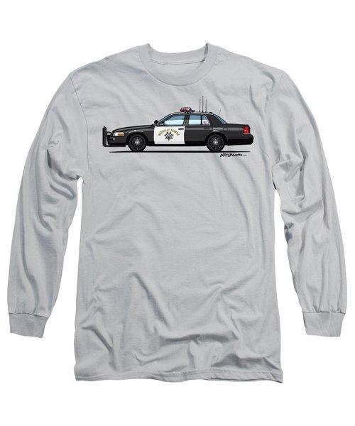 California Highway Patrol Ford Crown Victoria Police Interceptor Long Sleeve T-Shirt