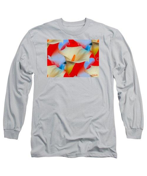 Splashy Calla Lilies Long Sleeve T-Shirt