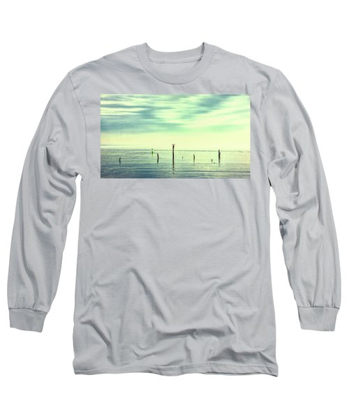 Long Sleeve T-Shirt featuring the photograph Calm Bayshore Morning N0 1 by Gary Slawsky