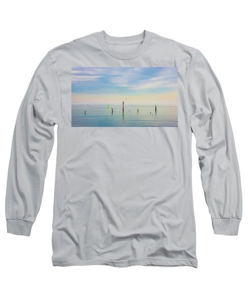 Long Sleeve T-Shirt featuring the photograph Calm Bayshore Morning N0 2 by Gary Slawsky