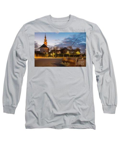 Long Sleeve T-Shirt featuring the photograph Calm Twilight In Novi Sad Vojvodina by Jivko Nakev
